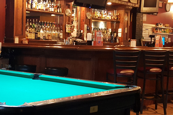vip billiards pool table and bar